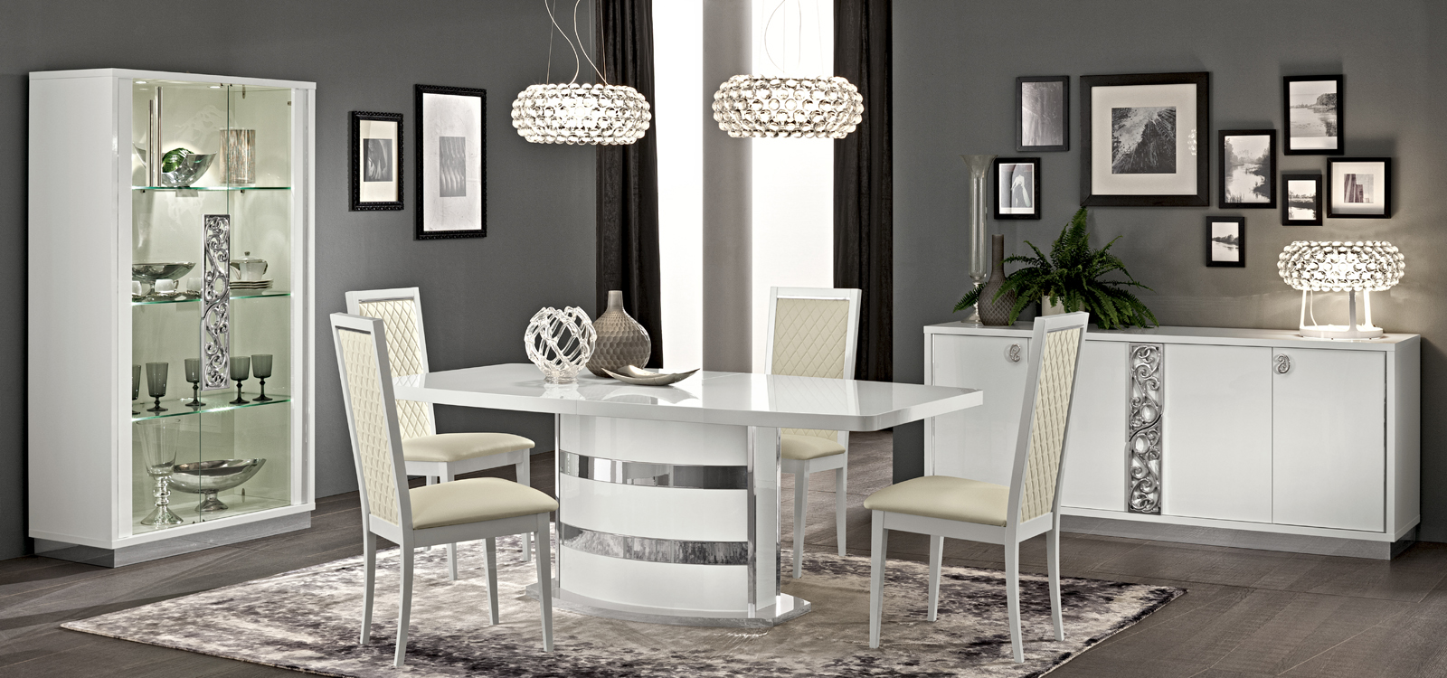 Roma Dining White, Italy, Modern Formal Dining Sets, Dining Room ...