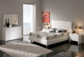 Collections Dupen Modern Beds, Spain Eva 620 w/Storage White