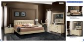 Bedroom  Furniture Modern  Bedrooms La Star Beige Comp 3 w/Plano Bed