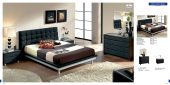 Bedroom  Furniture Modern  Bedrooms Toledo 603 Black, M73, C73, E93