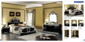 Bedroom  Furniture Classic Bedrooms Barocco Black w/Silver