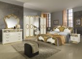 Collections MCS Classic Bedrooms, Italy Sara Ivory w/Gold