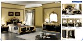 Bedroom  Furniture Classic Bedrooms Barocco Black w/Gold