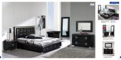 Collections Dupen Modern Beds, Spain Coco 624 Black, M97, C97, E98, E97, SF24