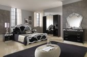 Collections MCS Classic Bedrooms, Italy Sara Black w/Silver