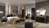 Collections MCS Classic Bedrooms, Italy Sara Black w/Gold